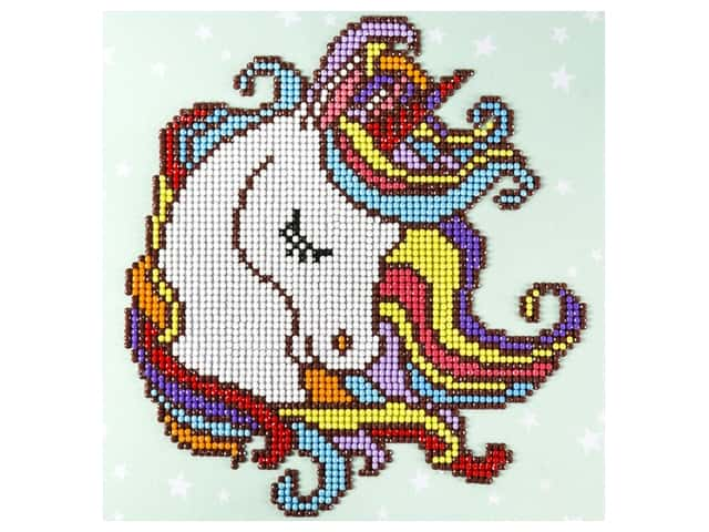 Diamond Art Beginner Kit 8 x 8 in. Fun Unicorn