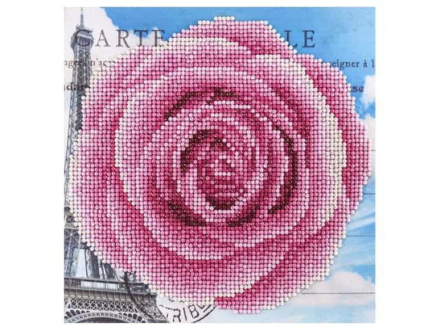 Diamond Art Beginner Kit 8 x 8 in. Rose