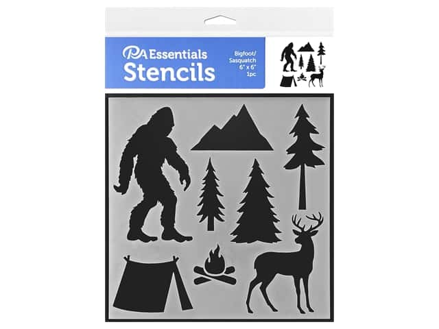PA Essentials Stencil 6 x 6 in. Bigfoot/Sasquatch