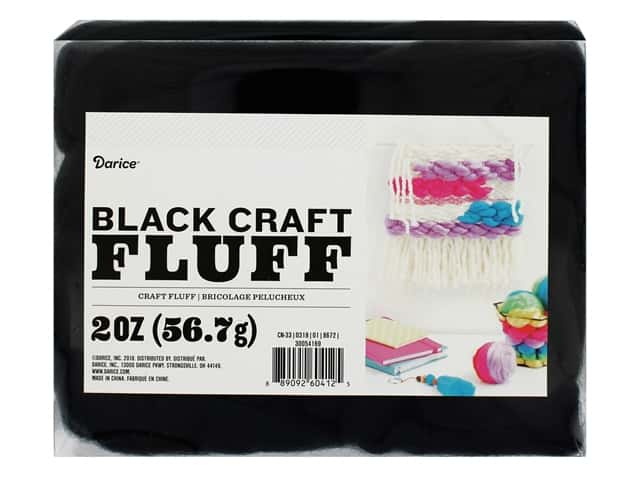 Darice Craft Fluff 2 oz. Black