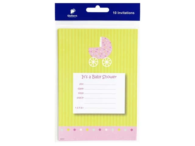 Gallant Greetings Baby Shower Invitation 10 ct 6