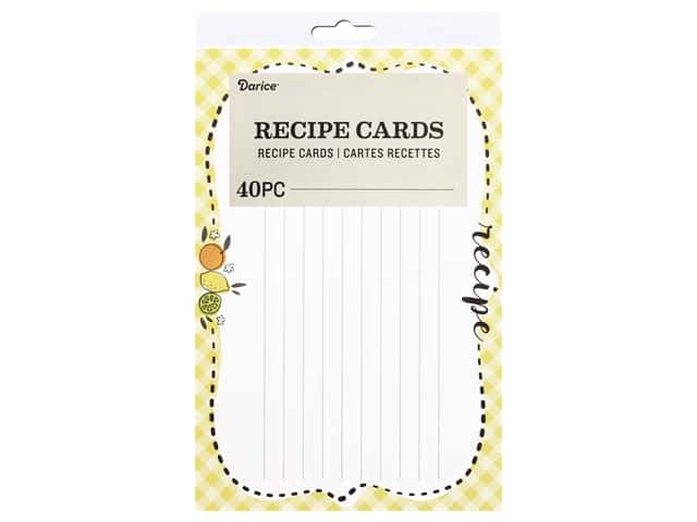 Darice Recipe Cards 40 pc. Citrus