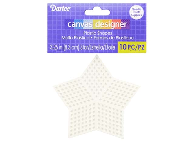 Darice Plastic Canvas Star 3.25 in. 10 pc