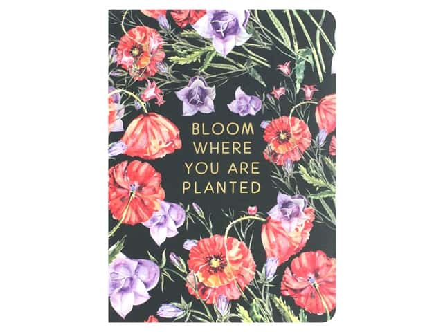 Paper House Collection Life Organized Journal Soft Cover Floral Black