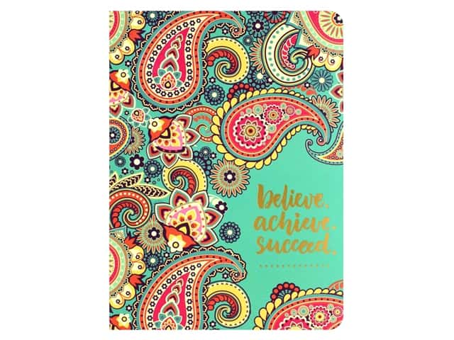 Paper House Collection Life Organized Journal Soft Cover Believe Achieve Succeed