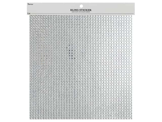 Darice Stick On Gems Bling 10 in. x 10 in. Clear