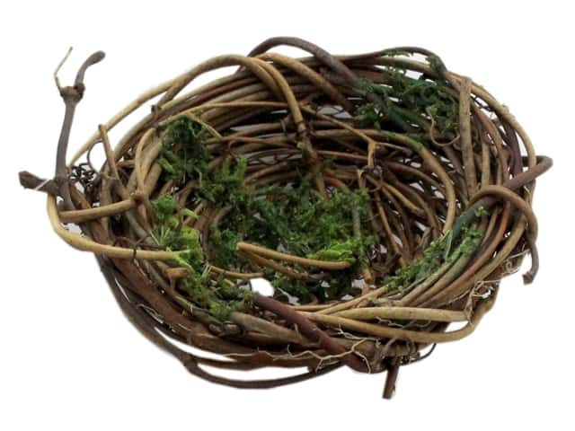 Darice Vine Bird Nest with Moss 3 in.