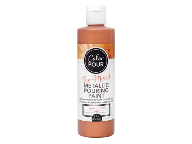 American Crafts Color Pour Pre-Mixed Pouring Paint - 8 oz. Copper