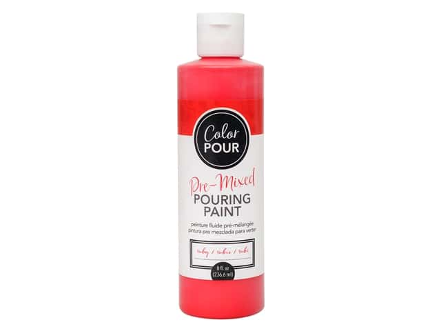 American Crafts Color Pour Pre-Mixed Pouring Paint - 8 oz. Ruby