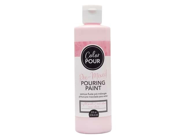 American Crafts Color Pour Pre-Mixed Pouring Paint - 8 oz. Light Pink