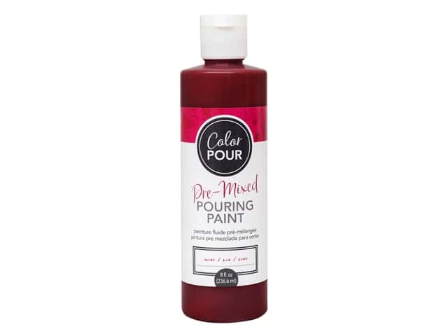 American Crafts Color Pour Pre-Mixed Pouring Paint 8 oz. Wine