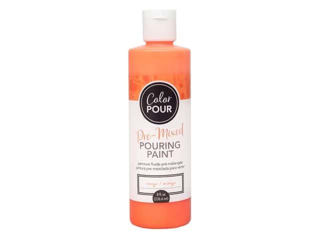 American Crafts Color Pour Pre-Mixed Pouring Paint - 8 oz. Orange