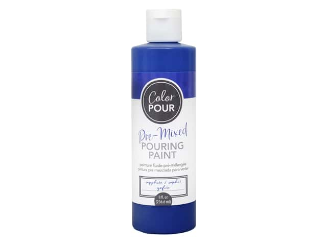 American Crafts Color Pour Pre-Mixed Pouring Paint - 8 oz. Sapphire