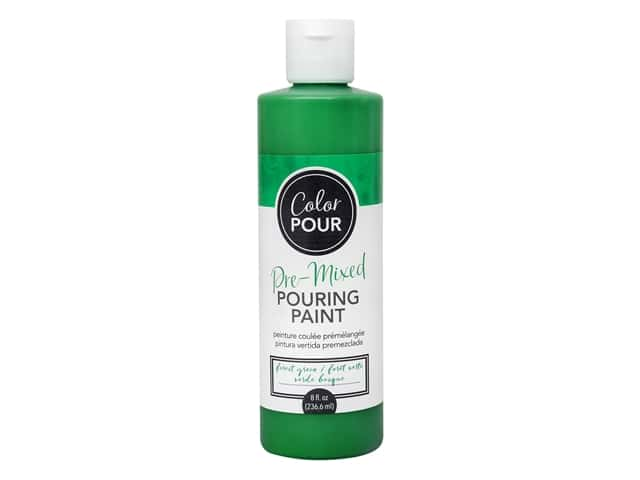 American Crafts Color Pour Pre-Mixed Pouring Paint - 8 oz. Forest Green
