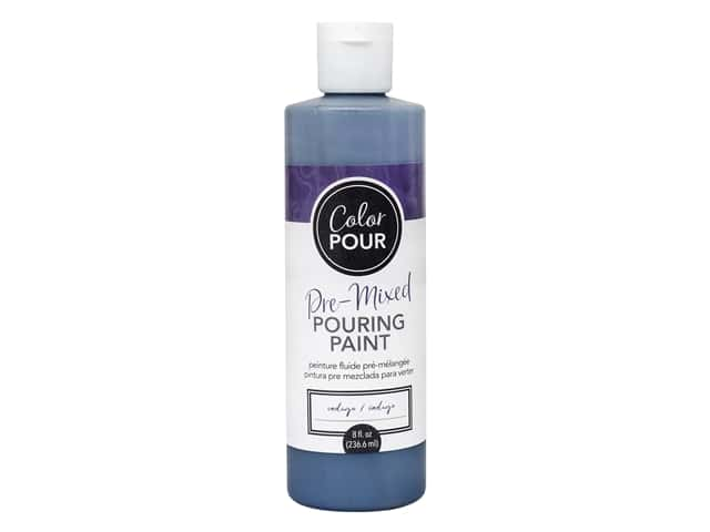 American Crafts Color Pour Pre-Mixed Pouring Paint - 8 oz. Indigo