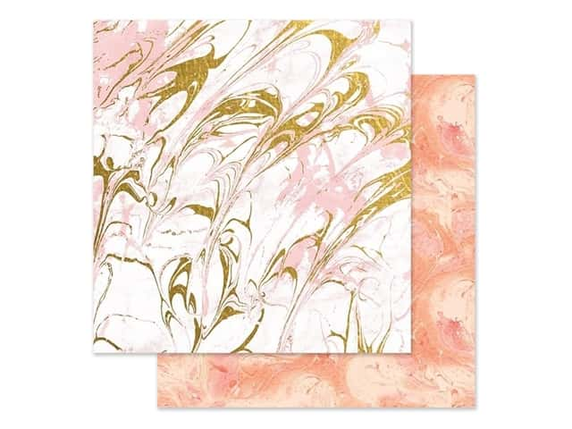 Paper House Paper 12 in. x 12 in. Marble Pink