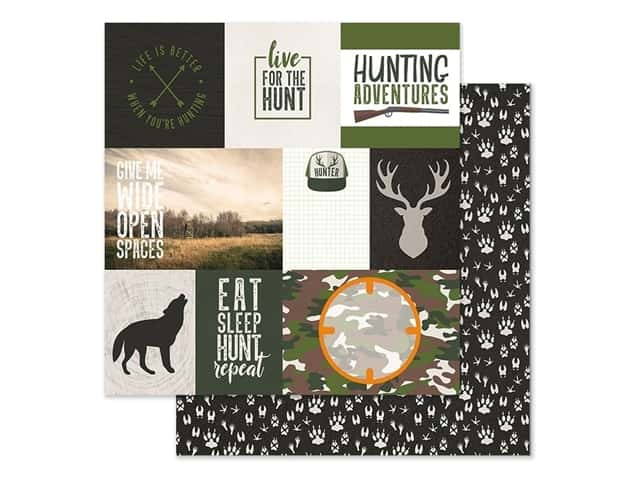 Paper House Paper 12 in. x 12 in. Tags Hunting