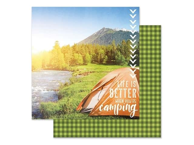 Paper House Paper 12 in. x 12 in. Better When Camping