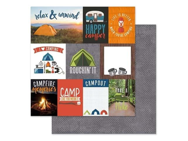 Paper House Paper 12 in. x 12 in. Tags Camping