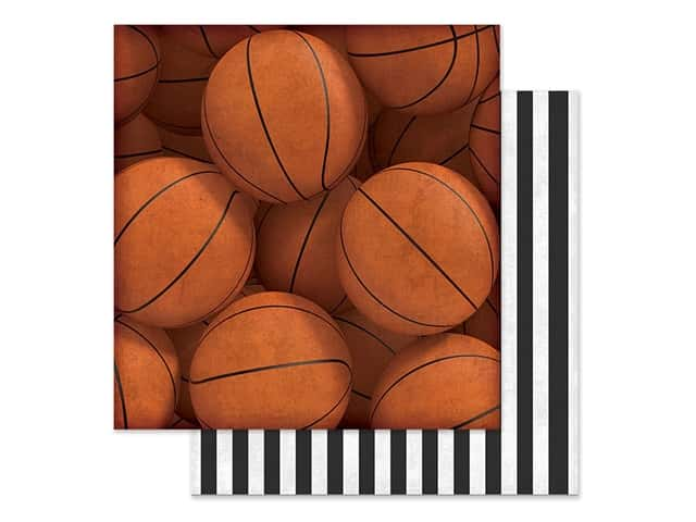 Paper House Paper 12 in. x 12 in. Basketballs
