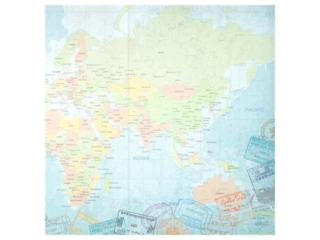 Paper House Paper 12 in. x 12 in. World Travel Eastern Hemisphere