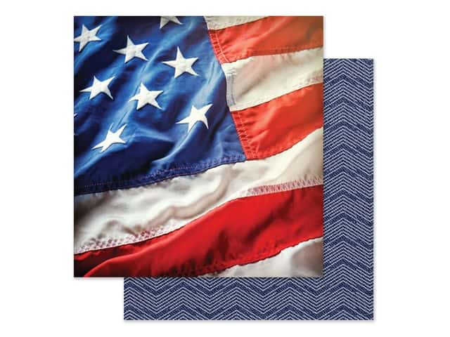 Paper House Paper 12 in. x 12 in. Stars & Stripes