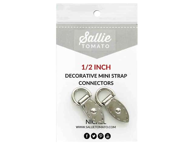 Sallie Tomato Hardware Decorative Mini Strap Connector .5 in. Sliver