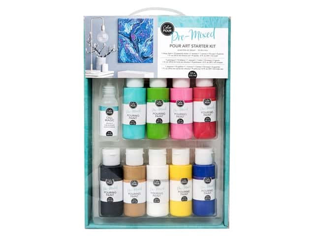 American Crafts Color Pour Pre-Mixed Pour Art Starter Kit
