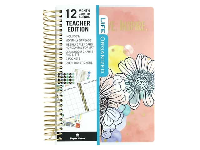 Paper House Collection Life Organized Mini Planner 12 Month Teacher