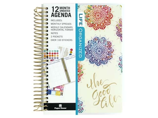 Paper House Collection Life Organized Mini Planner 12 Month Mandala