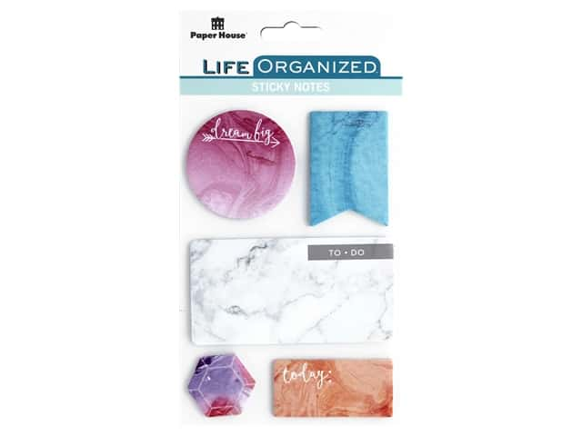 Paper House Collection Life Organized Sticky Note Marbleous