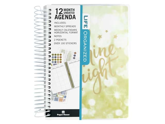 Paper House Collection Life Organized Mini Planner 12 Month Shine Bright