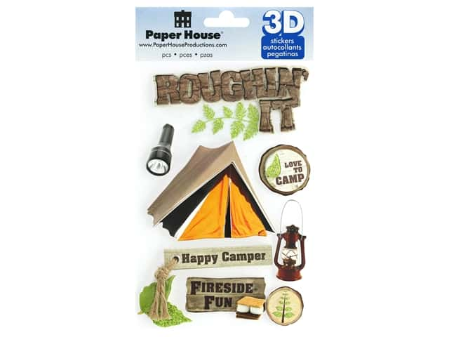 Paper House Sticker 3D Roughin' It