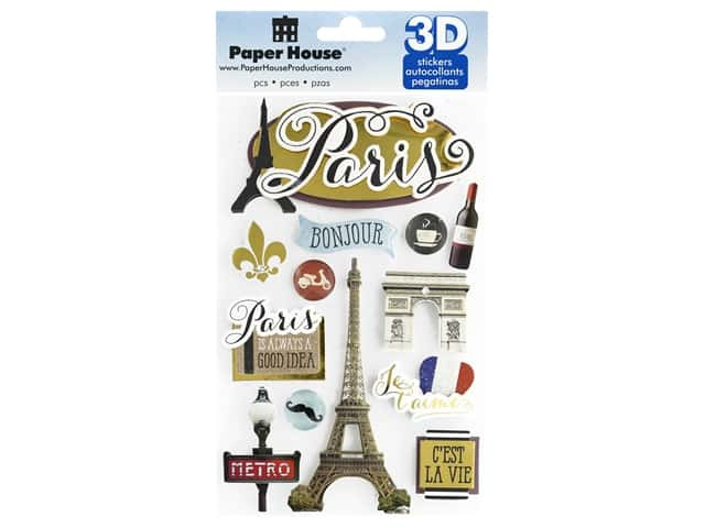 Paper House 3D Stickers - Discover Paris
