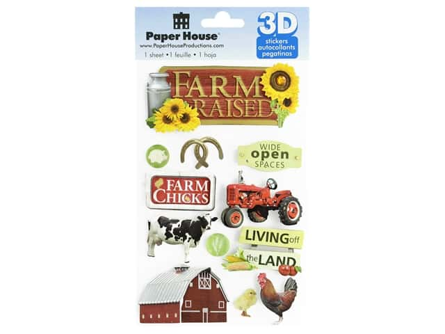 Paper House Sticker 3D Farm Raised