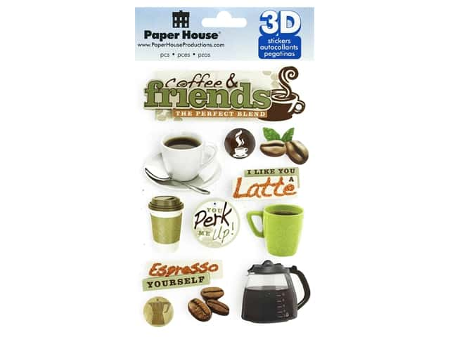 Paper House 3D Stickers - Coffee Talk