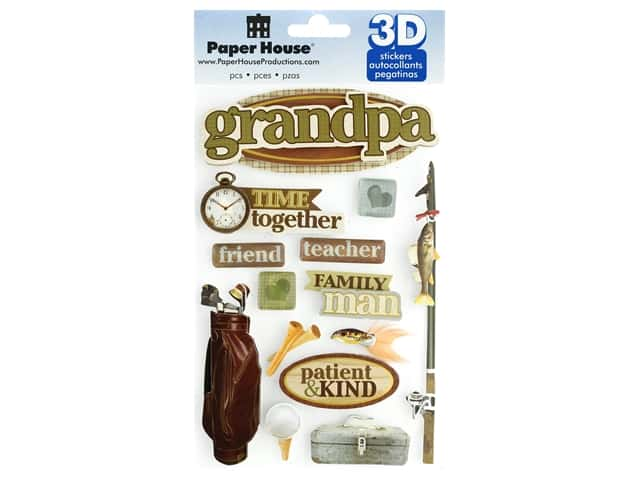 Paper House 3D Stickers - Grandpa