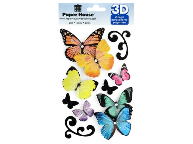 Paper House 3D Stickers - Butterflies
