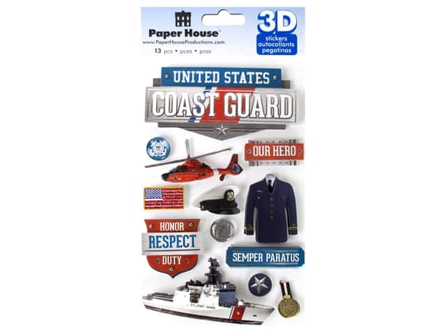 Paper House Sticker 3D US Coast Guard