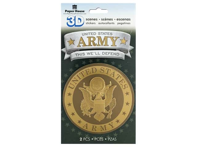Paper House 3D Stickers - Army Emblem