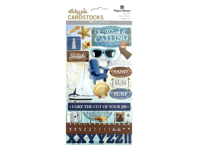 Paper House Sticker Cardstock Multi Pack Beach