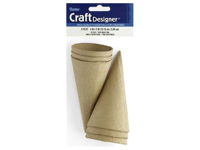 Darice Paper Mache Cone 4 in. x 2 in. 6 pc