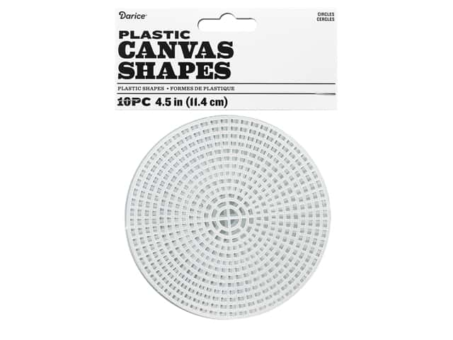 Darice Plastic Canvas #7 Mesh 4 1/2 in. Circle 10 pc. Clear