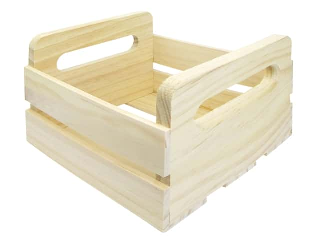 Darice Unfinished Wood Small Crate