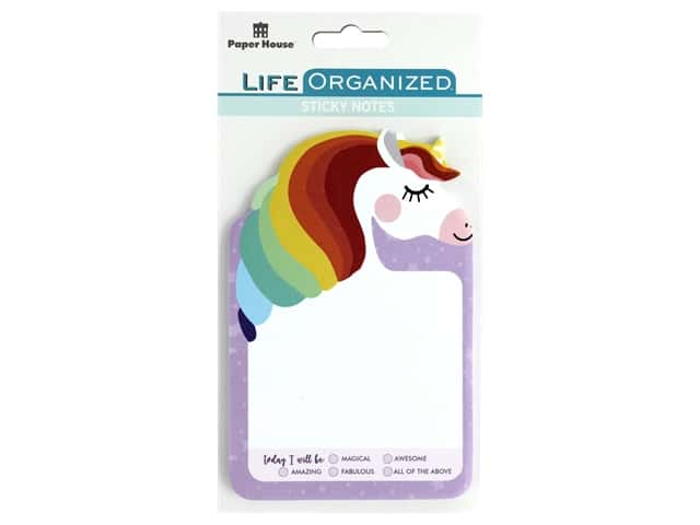 Paper House Collection Life Organized Sticky Note Unicorn
