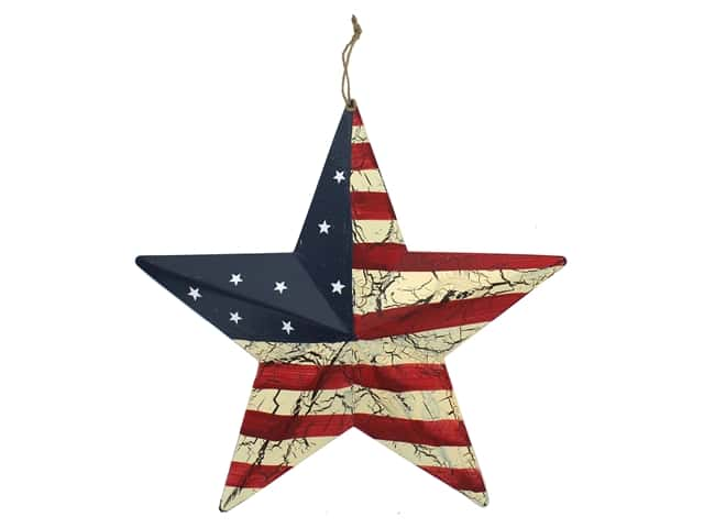 Darice USA Flag Barn Star 12 in.