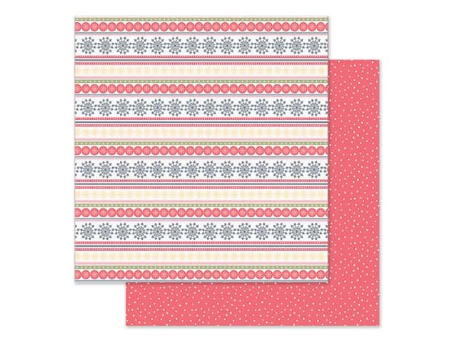 Simple Stories Collection Freezin Season Paper 12 in. x 12 in. Sweater Weather