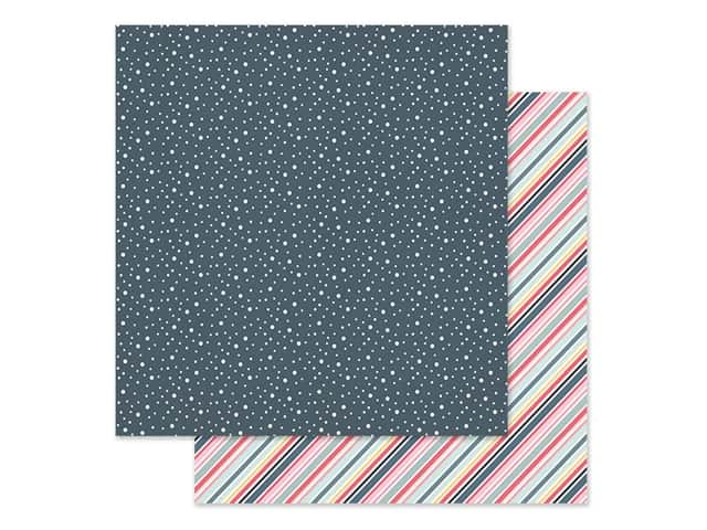Simple Stories Collection Freezin Season Paper 12 in. x 12 in. Shiverin'
