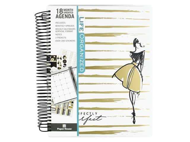 Paper House Collection Life Organized Planner 18 Month Perfectly Imperfect