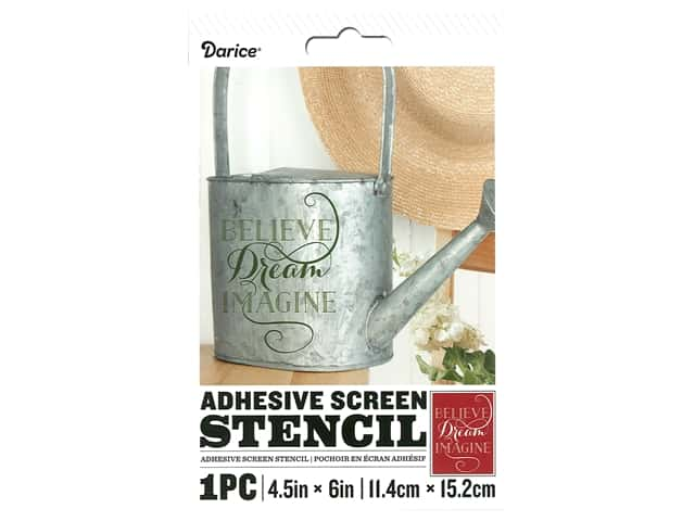 Darice Adhesive Screen Stencil 4 1/2 x 6 in. Believe
